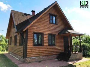 Внешняя покраска деревянного дома маслом Renner фото